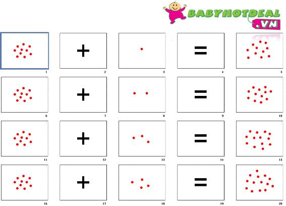 Bộ dot card dạy toán cho trẻ