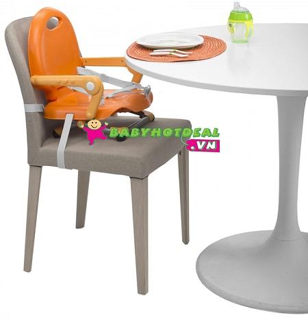 Ghế ăn bột điều chỉnh độ cao Chicco Pocket màu cam