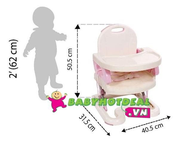Ghế ngồi ăn Mastela cho bé màu hồng 07113