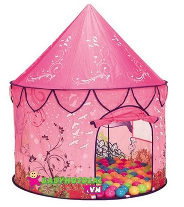 Nhà banh cho bé hình công chúa màu hồng 688-2