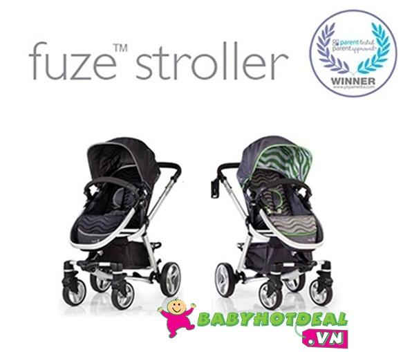 Xe đẩy em bé Summer Fuze 21290 xoay chiều màu đen