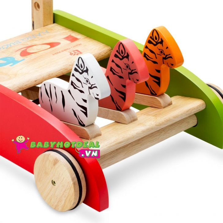 Xe tập đi bằng gỗ IQtoys con ngựa HTP001