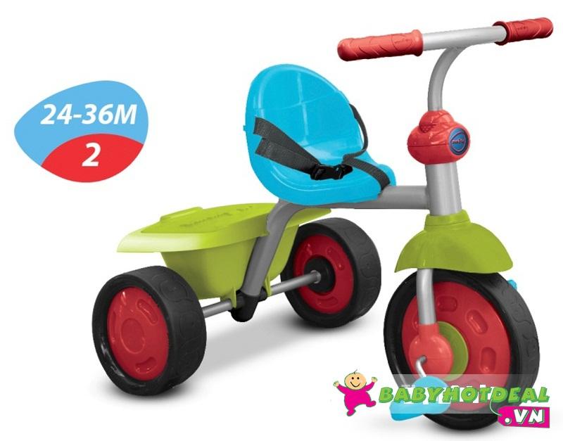 Xe đạp 3 bánh trẻ em Smart-Trike Fun 2 trong 1 màu hồng