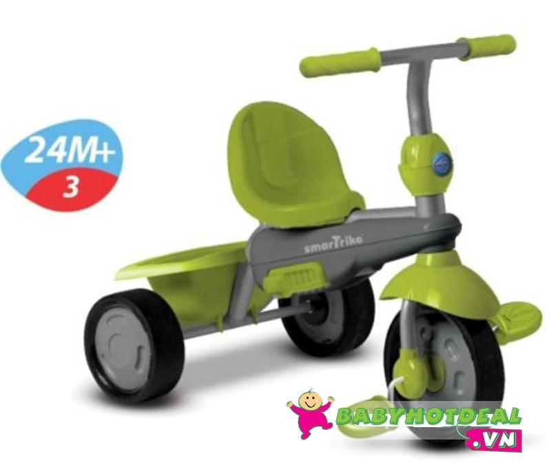 Xe đạp 3 bánh cảm ứng Smart-Trike Breeze 3 in 1 màu xanh lá