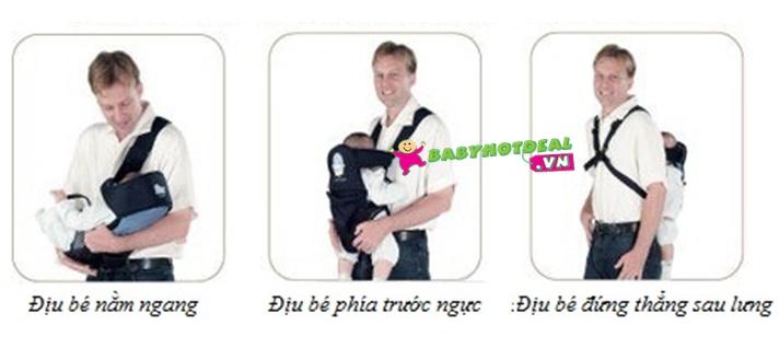 Địu em bé KUKU 3 trong 1 KU2152