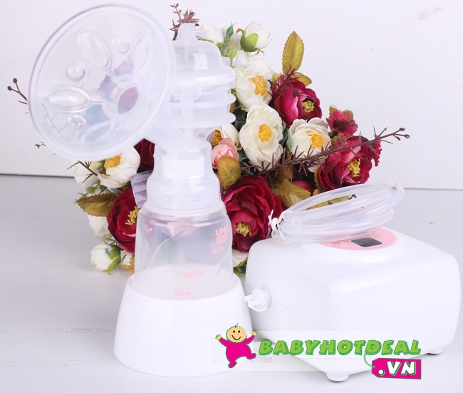 Máy hút sữa Unimom đơn có mátxa silicon bằng điện