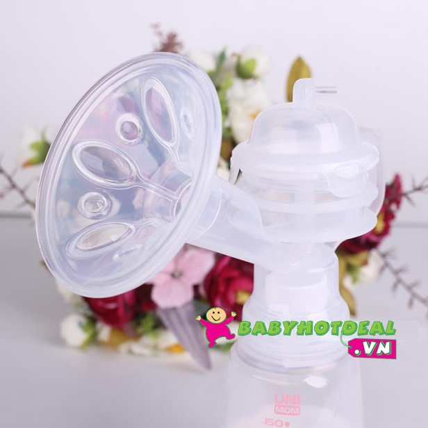 Máy hút sữa Unimom đôi có mátxa silicon bằng điện