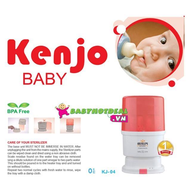 Máy tiệt trùng bình sữa siêu tốc đa năng Kenjo KJ-04