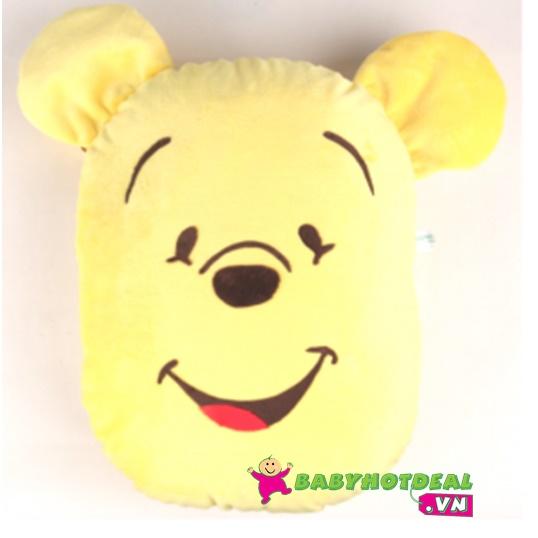 Gối kể chuyện cho bé Honey (hình heo hồng và hình gấu vàng)