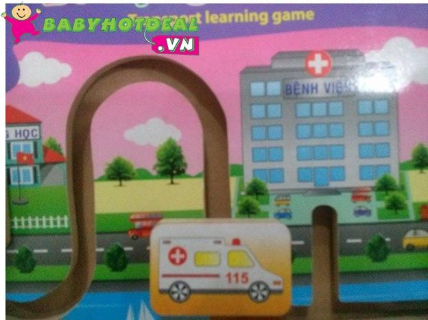 Đồ chơi gỗ bé học giao thông Winwintoys