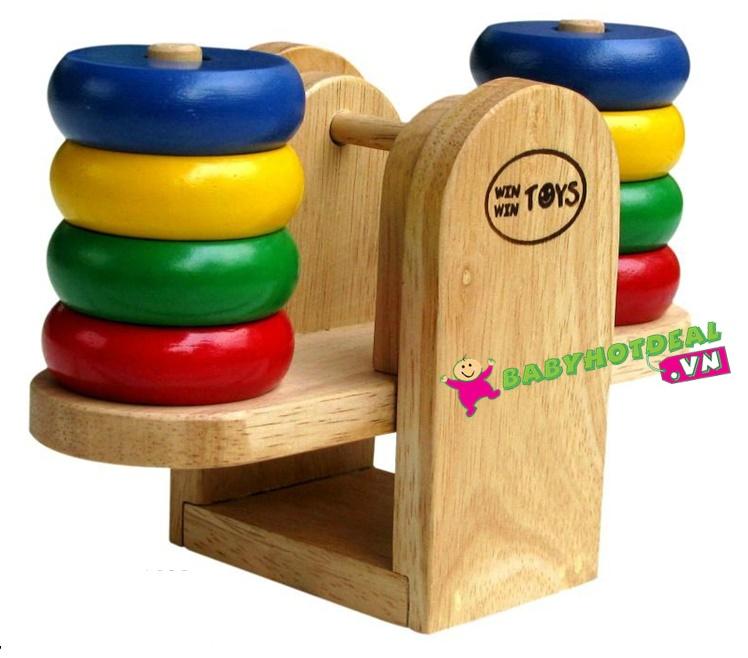 Đồ chơi gỗ cân bập bênh Winwintoys 61072