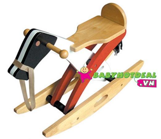 Đồ chơi ngựa gỗ bập bênh Winwintoys 61252