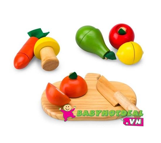Đồ chơi gỗ bộ 5 loại trái cây Winwin Toys 63162