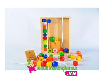 Đồ chơi gỗ xếp chuỗi hạt Winwin Toys 63162