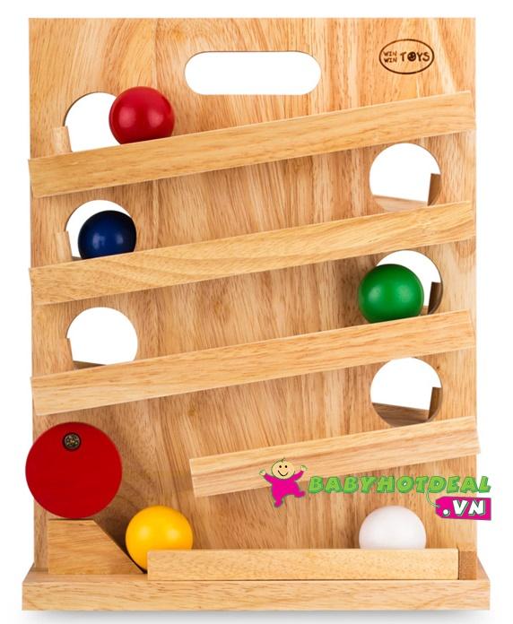 Đồ chơi gỗ lăn banh Winwintoys 60092