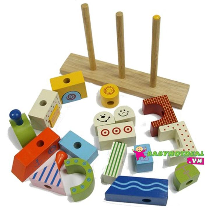 Đồ chơi gỗ xếp hình chiếc thuyền Winwintoys 61162