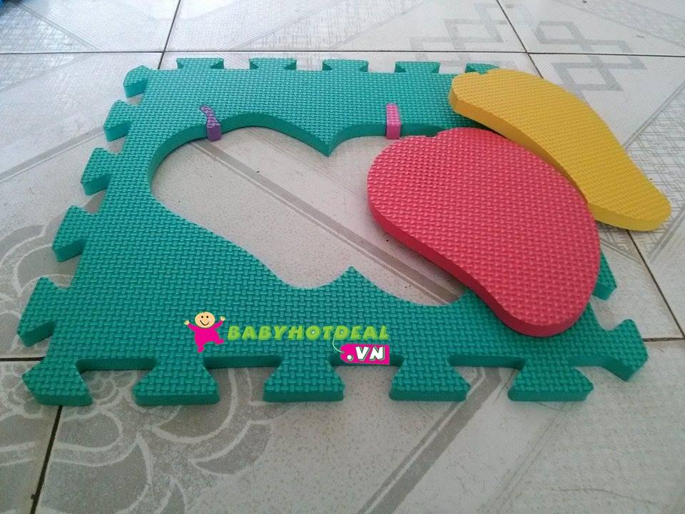 Thảm xốp mềm cho bé hình trái cây 1 bộ 10 tấm (30cm x 30cm)