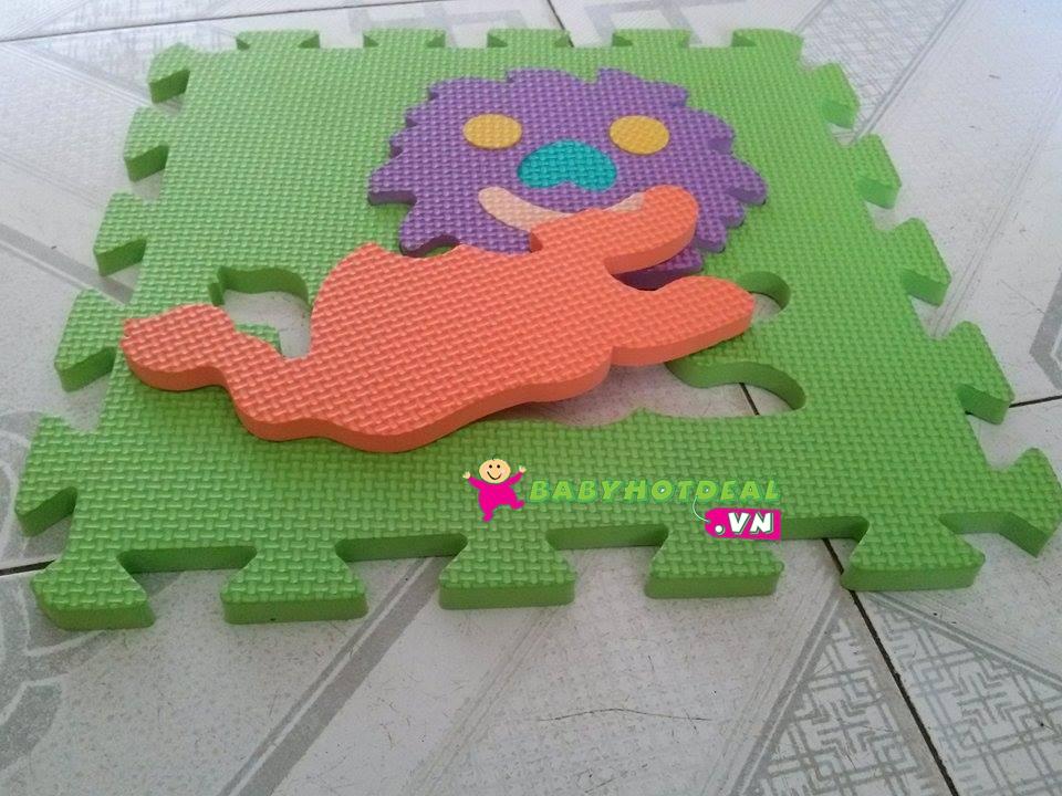 Thảm xốp mềm cho bé hình con vật 1 bộ 10 tấm (30cm x 30cm)