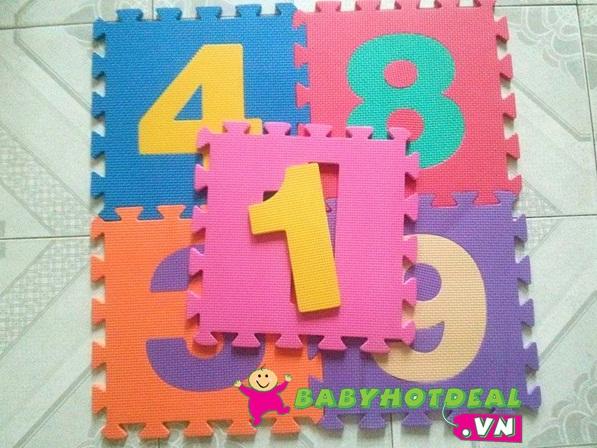 Thảm xốp mềm cho bé hình số 1 bộ 10 tấm (30cm x 30cm)