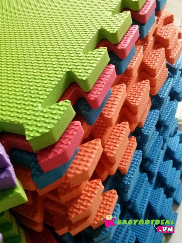 Thảm xốp mềm cho bé trơn 1 bộ 10 miếng (30cm x 30cm)