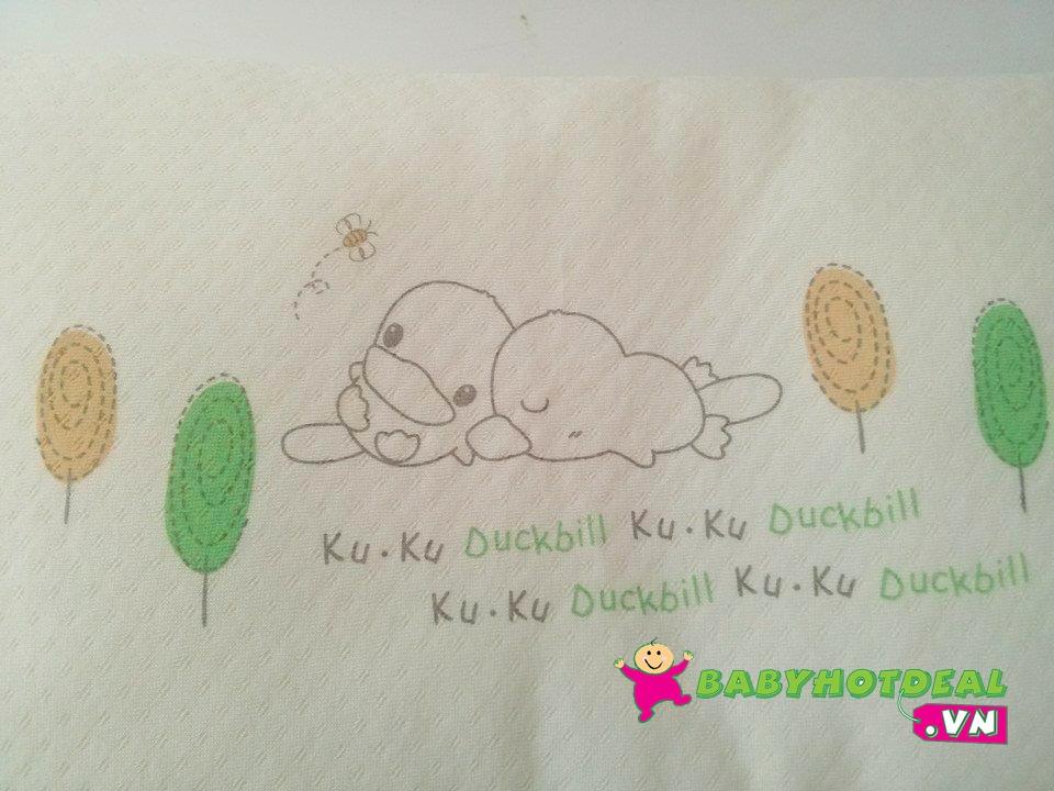 Gối cho bé KUKU vải Organic KU2053 (23x35cm)