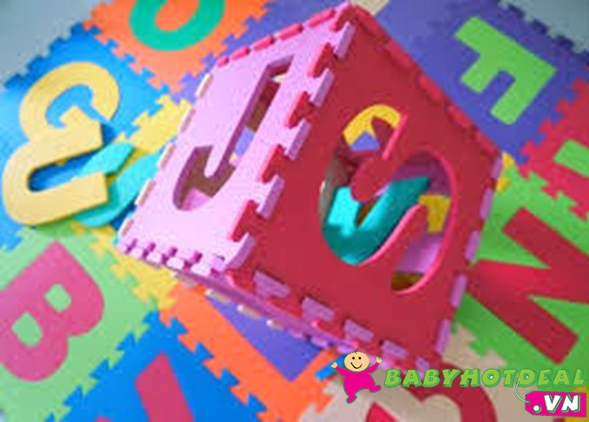 Thảm xốp mềm cho bé hình chữ 1 bộ 26 miếng (30cm x 30cm)