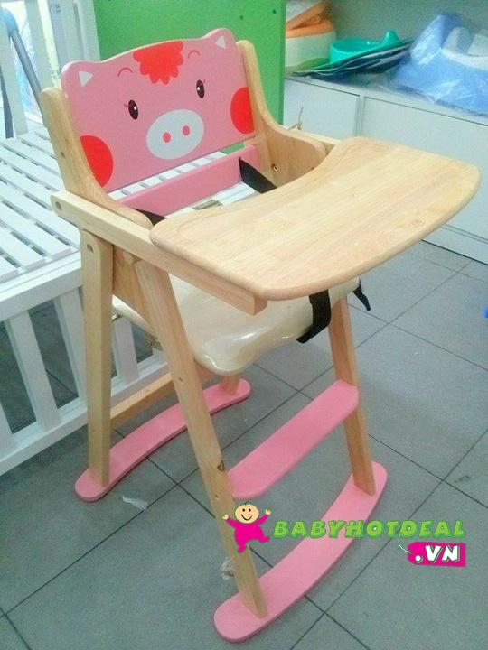 Ghế ăn bột con heo hồng cho bé