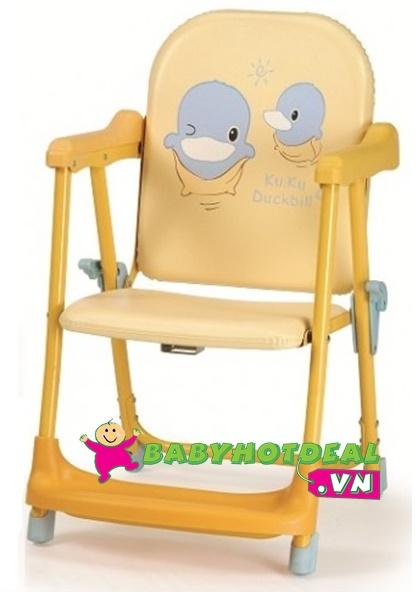 Ghế ăn bột KUKU điều chỉnh độ cao cho bé KU6008