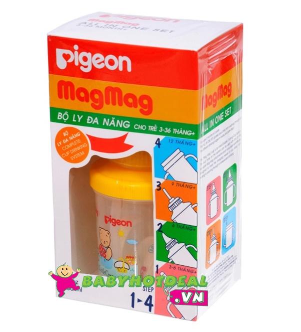 Bình tập uống Pigeon 4 trong 1 MagMag