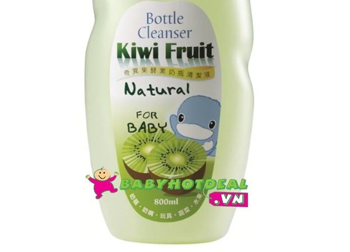 Nước rửa bình sữa KUKU hương Kiwi KU1078 (chai 800ml)
