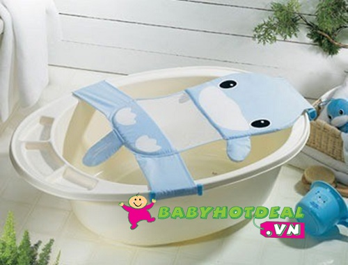 Lưới đỡ tắm bé bằng vải KUKU hình thú KU1043