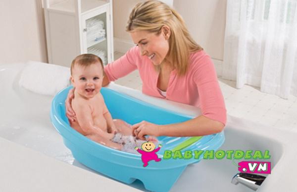 Chậu tắm có lưới đỡ Summer Infant (xanh và hồng)
