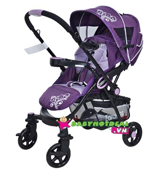 Xe đẩy trẻ em Zaracos Larry 3186 màu tím