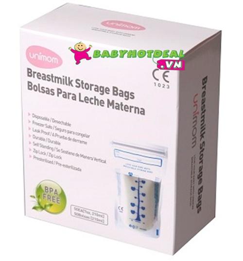 Túi trữ sữa mẹ có cảm ứng nhiệt Unimom UM870152 (40 túi)