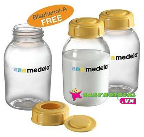 Bộ 3 bình trữ sữa Medela 150ml