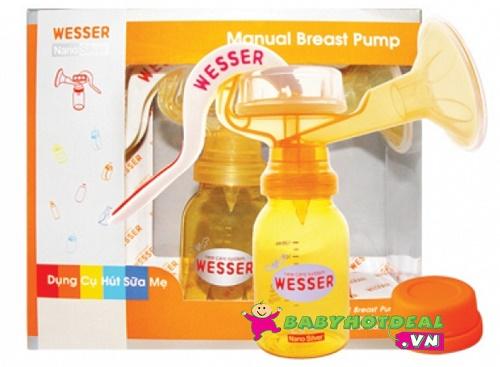Máy hút sữa mẹ bằng tay Wesser