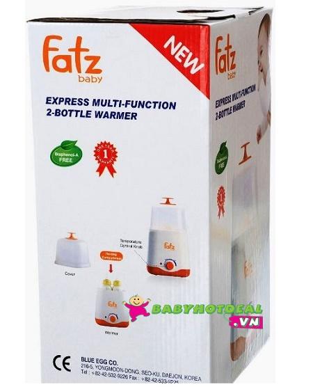 Máy hâm sữa và tiệt trùng bình sữa siêu tốc đa năng 2 bình Fatzbaby FB3011SL