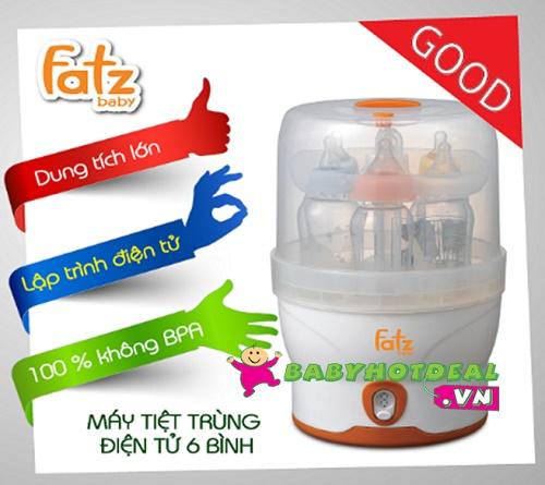 Máy tiệt trùng bình sữa hơi nước điện tử Fatzbaby FB4028SL