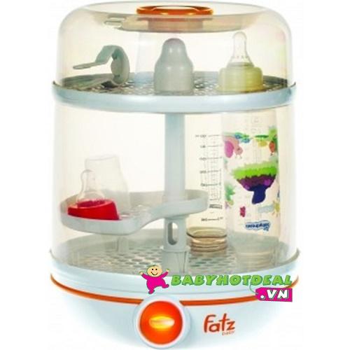 Máy tiệt trùng bình sữa 2 trong 1 Fatzbaby FB4002SB