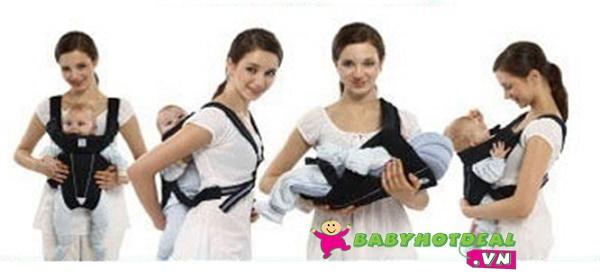 Địu em bé KUKU 4 trong 1 KU2184 (địu 4 tư thế)
