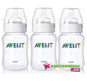 Set 3 bình sữa Philips Avent PP 260ml (SCF683/37)